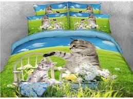 Kitten Bedding Set 3d Cat Bedding Beddinginn Com