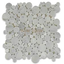 marble mosaic tile carrara white bubble round mosaic tile honed marble from italy