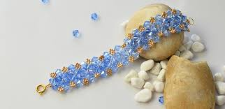 glass beads bracelet images Ocean style bracelet how to make a blue glass bead bracelet with jpg