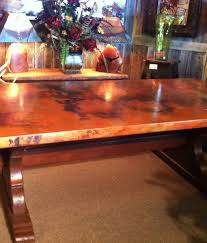 copper top dining table western dinner table