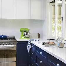blue bottom and white top kitchen cabinets navy blue bottom kitchen cabinets design ideas