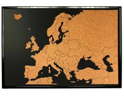 World Map Push Pin Board by Europe Push Pin Corkboard With Countries Outlined Cork Sales