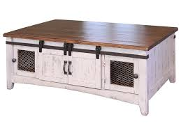 Distressed White Table International Furniture Direct Pueblo Rustic Cocktail Table With