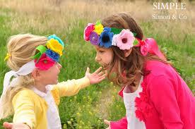 felt headbands a may day flower headband tutorial simple simon and company