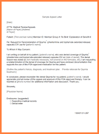 sample letter of appeal for reconsideration appeal letter for
