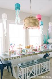 Mermaid Decorations For Party Diy Mermaid Birthday Party Ideas By Design Loves Detail