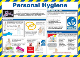 safety first aid a770t personal hygiene for caterers poster