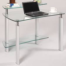 creative of glass computer desk with drawers glass computer desk