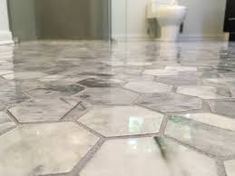 Carrara Marble Floor Tile Hexagon Carrara Marble Tile Floor For Your Bathroom What Foam