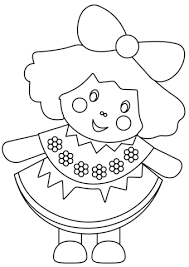 doll coloring free printable coloring pages