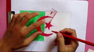 Algerian Flag Drawing Algeria Flag Youtube