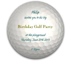 40th birthday ideas free golf birthday invitation templates