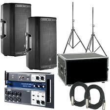 Audio Rack Case Jbl Eon612 Powered Speakers 2 U0026 Soundcraft Ui12 Mixer With Rack