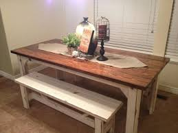Farm Table With Bench And Chairs Kitchen Rustic Kitchen Sets And 35 Attractive Rustic Kitchen