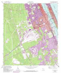 Daytona Florida Map by Daytona Beach Topographic Map Fl Usgs Topo Quad 29081b1