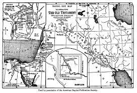 Map Of Babylon The Bible Story Rev N M Hall Rev I F Wood