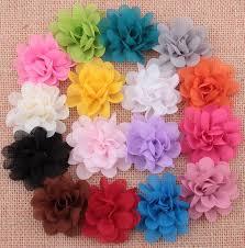 flowers for headbands kids hair flowers for headbands 2 inch fabric chiffon flowers