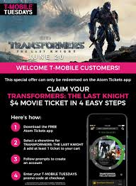 t mobile tuesdays transformers the last knight redemption