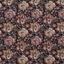 Traditional Upholstery Fabrics Beige Green And Burgundy Vintage Floral Tapestry Upholstery Fabric