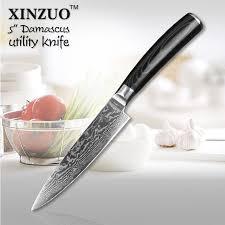 japanese steel kitchen knives shop high quality 5 utility knife japanese vg10 damascus