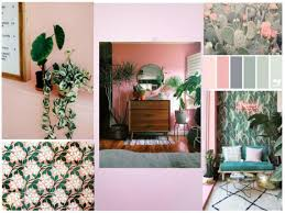 mood board pink and green love affair in home design modern