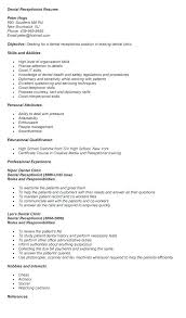 resume exles for receptionist exle receptionist resume reception resume sles ideas of dental