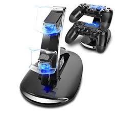 amazon com playstation 4 black amazon com tnp ps4 controller charge station 2x usb