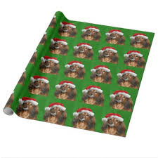 thick christmas wrapping paper dachshund christmas wrapping paper zazzle