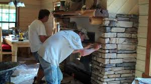 rock installation on fireplace by gary lynn texas u0027 own rock