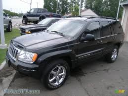 black jeep grand cherokee 2004 jeep grand cherokee limited 4x4 in brillant black crystal