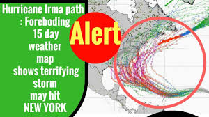 Nyc Traffic Map Hurricane Irma Path Foreboding 15 Day Weather Map Shows