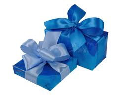 boxes with bows blue gift boxes with bows stock image image of 12719183