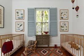 Shabby Chic Nursery Furniture by Twin Baby Room Nursery Shabby Chic Style With Wooden Crib