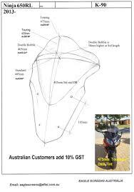 custom made motorcycle screens for kawasaki eagle screens australia