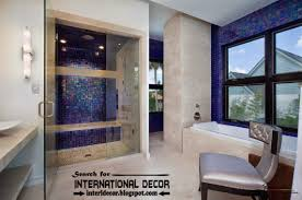 beautiful bathroom tiles designs ideas blue mosaic tiles for