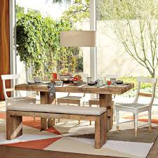 Dining Table And Bench Pueblosinfronterasus - West elm emmerson industrial expandable dining table
