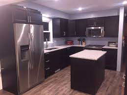 Grey Laminate Flooring Ikea Diy Ikea Kitchen With Laxarby Cabinets Quartz Countertops In