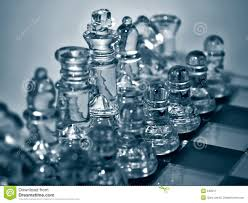 glass chess set stock image image of plans lead gameplans 540317
