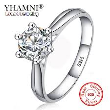 white silver rings images Yhamnni fine jewelry 100 natural 925 silver rings white 6mm jpg
