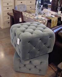 Button Tufted Ottoman The Glamorous Of A Decorator Gray Ottoman Barn And