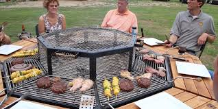 sit around grill table jag bbq grill works as a table for 8 people business insider