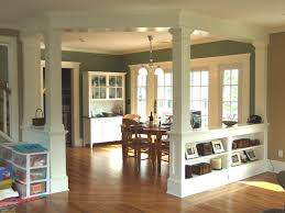 Dining Room Columns Low Walls Interior Columns