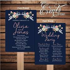 where to get wedding programs printed printed sle for 2 dollars or sets of 50 custom printed wedding