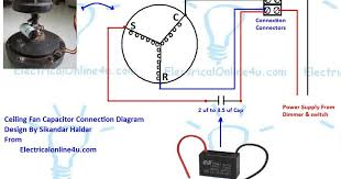 ceiling fan capacitor wiring connection diagram electrical online 4u