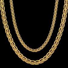 golden necklace women images Vintage 45 55 66 76cm long gold color necklace for men women 39 s jpg