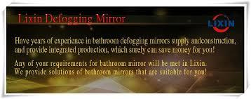 Defog Bathroom Mirror by Foshan Lixin Electronic Technology Co Ltd Bathroom Mirror