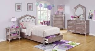Storage Bedroom Set Caroline Storage Bedroom Set Metallic Lilac Kids Room Sets