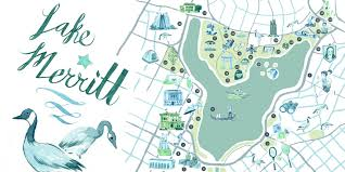 Walter Reed Map An Illustrated Guide To Lake Merritt U2013 The Bold Italic
