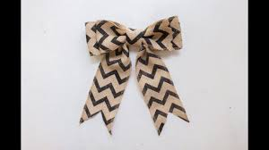 burlap ribbon bow how to make a burlap bow in just minutes