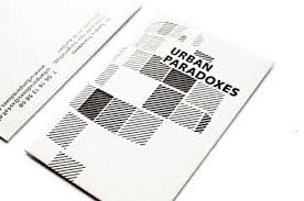 Best Of Business Card Design Business Card For Urban Paradoxes The Best Of Business Card